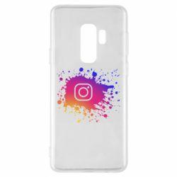 Чехол для Samsung S9+ Instagram spray