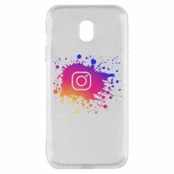 Чехол для Samsung J3 2017 Instagram spray