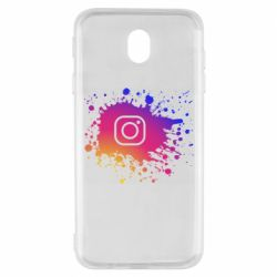 Чехол для Samsung J7 2017 Instagram spray