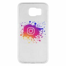 Чехол для Samsung S6 Instagram spray