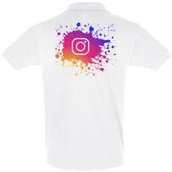 Мужская футболка поло Instagram spray