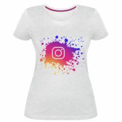 Женская стрейчевая футболка Instagram spray