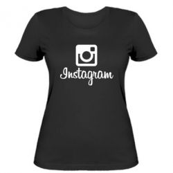 Женская футболка Instagram - FatLine