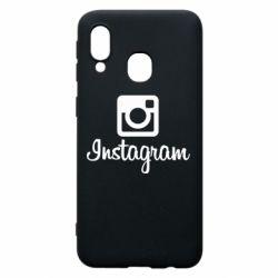 Чехол для Samsung A40 Instagram