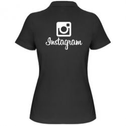Женская футболка поло Instagram