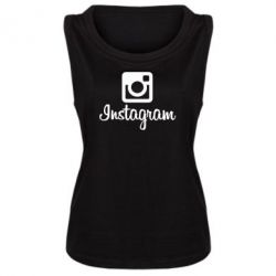 Женская майка Instagram - FatLine