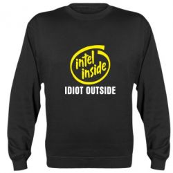 Реглан (свитшот) Intel inside, idiot outside - FatLine