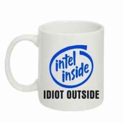 Кружка 320ml Intel inside, idiot outside