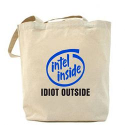 Сумка Intel inside, idiot outside