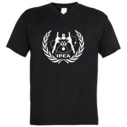 Мужская футболка  с V-образным вырезом International Project Evangelion Agency