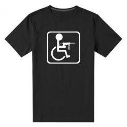 Чоловіча стрейчева футболка Інвалід з MP40