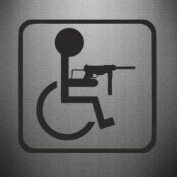 Наклейка Інвалід з MP40