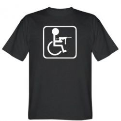 Чоловіча футболка Інвалід з MP40