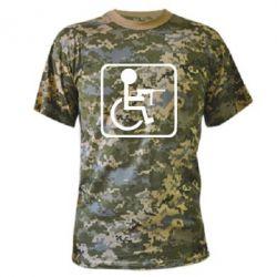 Камуфляжна футболка Інвалід з MP40