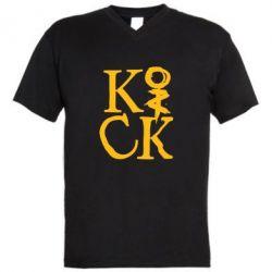 Мужская футболка  с V-образным вырезом Invincible tricking - FatLine