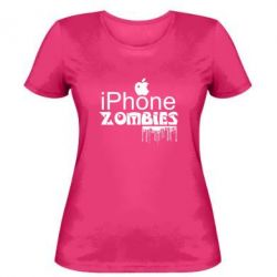 Жіноча футболка iPHONE ZOMBIES