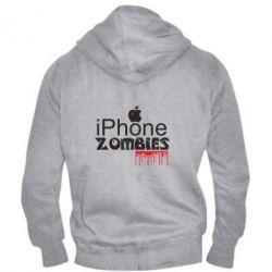 Чоловіча толстовка на блискавці iPHONE ZOMBIES