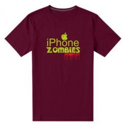 Мужская стрейчевая футболка iPHONE ZOMBIES