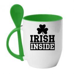 Купить Кружка с керамической ложкой Irish Inside, FatLine