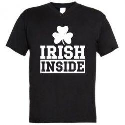 Мужская футболка  с V-образным вырезом Irish Inside
