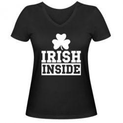 Женская футболка с V-образным вырезом Irish Inside