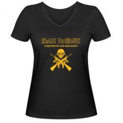 Женская футболка с V-образным вырезом Iron Maiden - FatLine