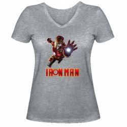 Жіноча футболка з V-подібним вирізом Iron Man 2