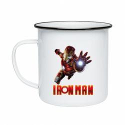 Кружка емальована Iron Man 2