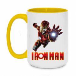 Кружка двоколірна 420ml Iron Man 2