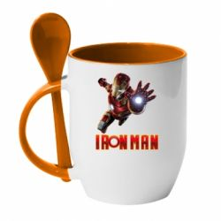 Кружка з керамічною ложкою Iron Man 2