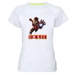 Жіноча спортивна футболка Iron Man 2