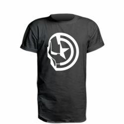Подовжена футболка Iron Man and Captain America
