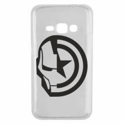 Чохол для Samsung J1 2016 Iron Man and Captain America