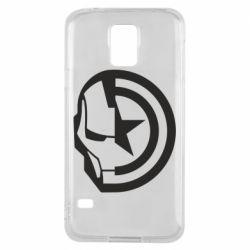 Чохол для Samsung S5 Iron Man and Captain America