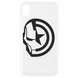 Чохол для iPhone XR Iron Man and Captain America