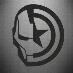 Наклейка Iron Man and Captain America