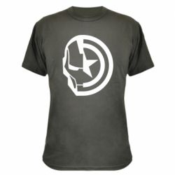 Камуфляжна футболка Iron Man and Captain America