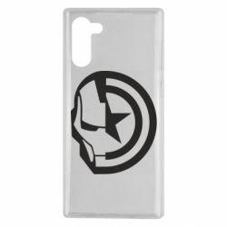 Чохол для Samsung Note 10 Iron Man and Captain America