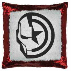 Подушка-хамелеон Iron Man and Captain America