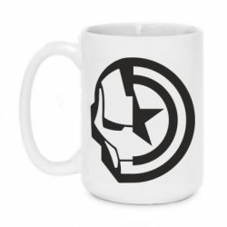 Кружка 420ml Iron Man and Captain America