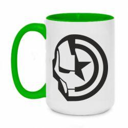 Кружка двоколірна 420ml Iron Man and Captain America