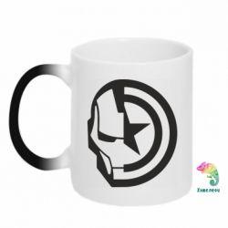 Кружка-хамелеон Iron Man and Captain America