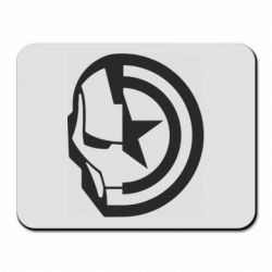 Килимок для миші Iron Man and Captain America