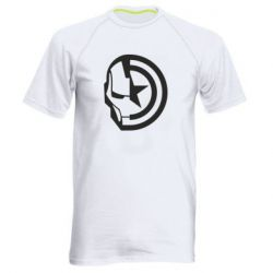 Чоловіча спортивна футболка Iron Man and Captain America