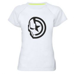 Жіноча спортивна футболка Iron Man and Captain America