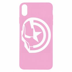 Чохол для iPhone X/Xs Iron Man and Captain America