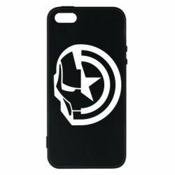 Чохол для iphone 5/5S/SE Iron Man and Captain America