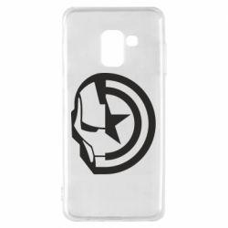 Чохол для Samsung A8 2018 Iron Man and Captain America