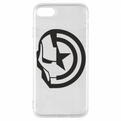 Чохол для iPhone 8 Iron Man and Captain America