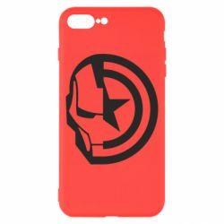 Чохол для iPhone 8 Plus Iron Man and Captain America